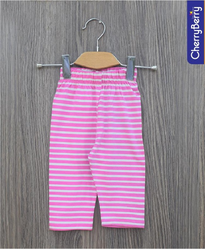 Girls knit pink capri
