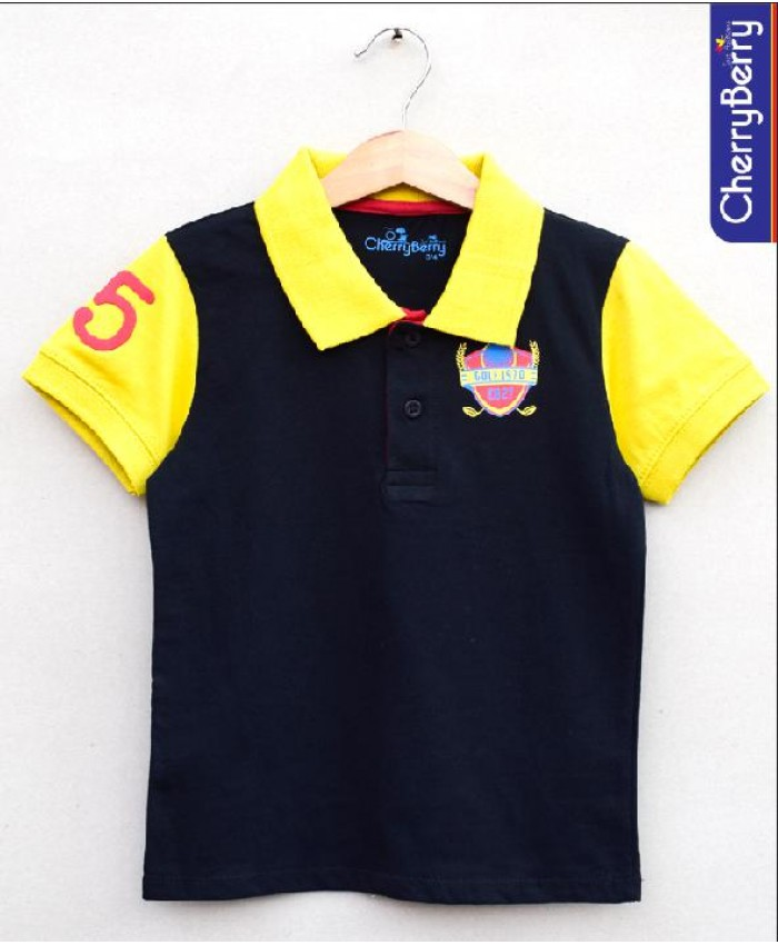 boys printed polo-shirt (S18B45)