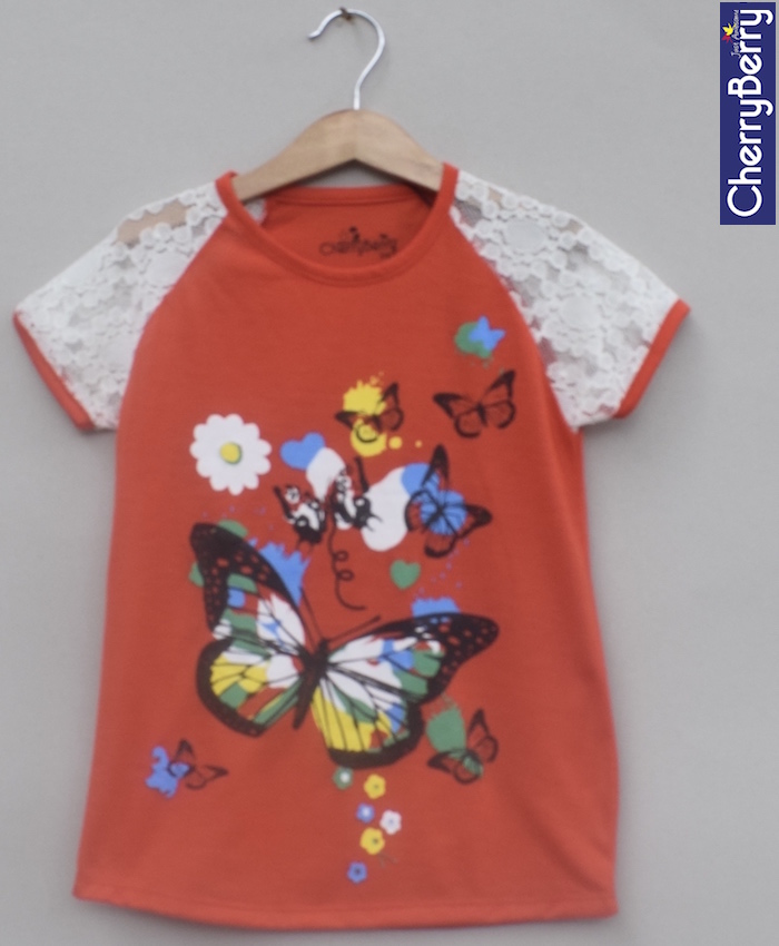 Girls Printed T-shirt (S18G69)