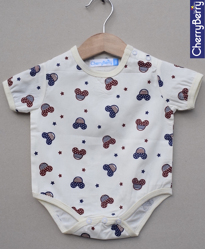 Baby cotton micky Romper