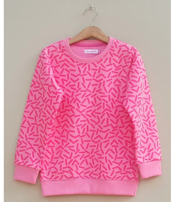 Girl printed sweatshirt (W18G33)