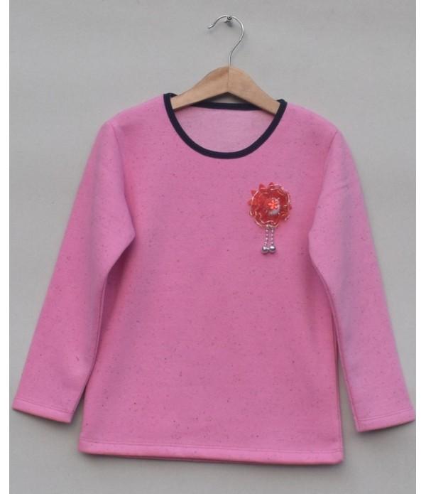 Baby girl Fleece T-shirt (W18G62)
