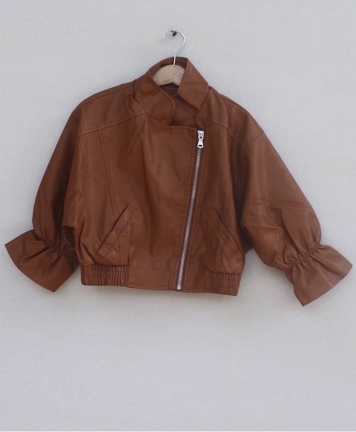 Girls Leather jacket (W18J07)