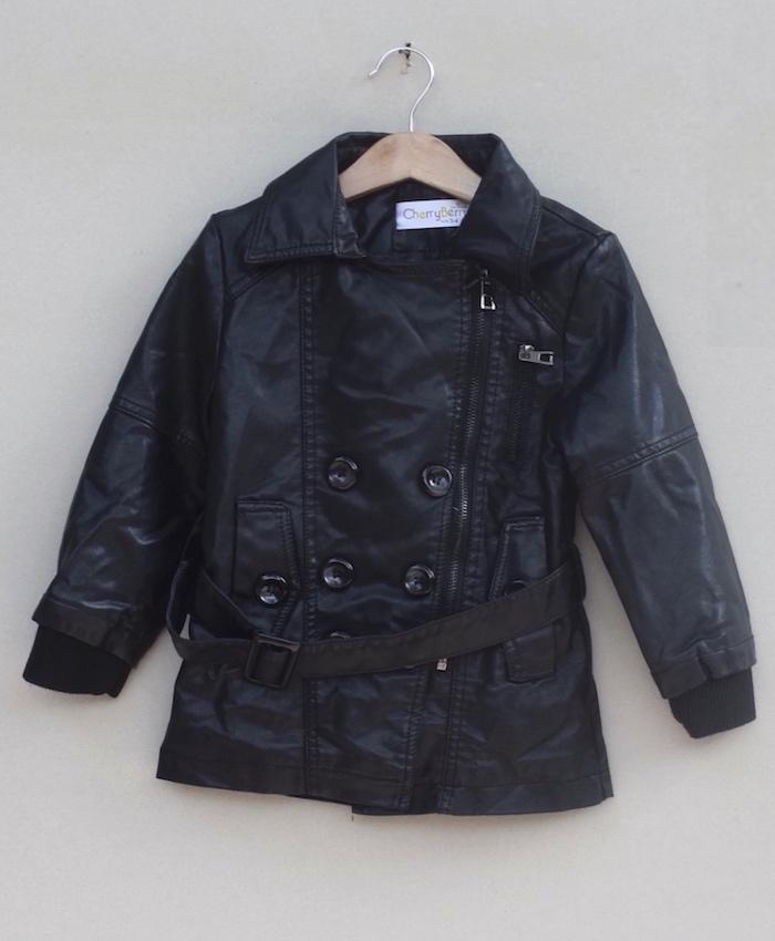 Girls Leather jacket (W18J08)