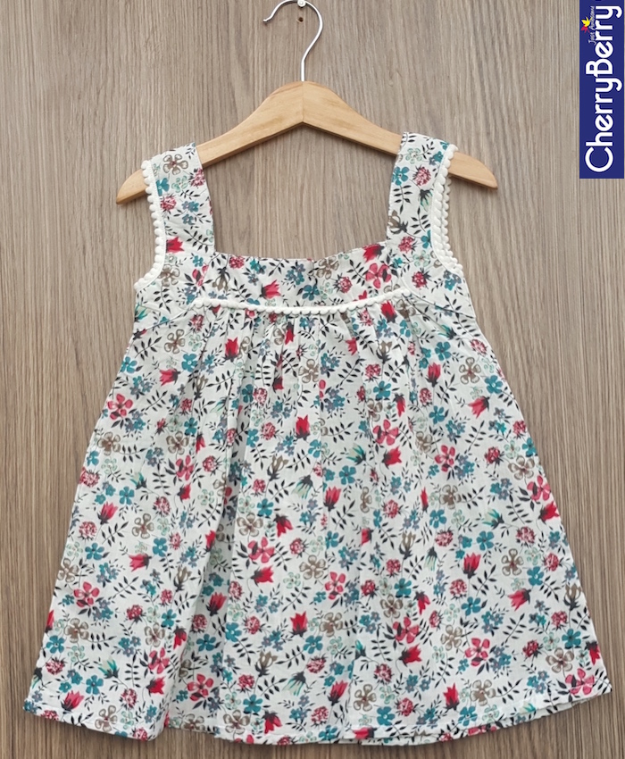 Girls cotton dress (S17F27)