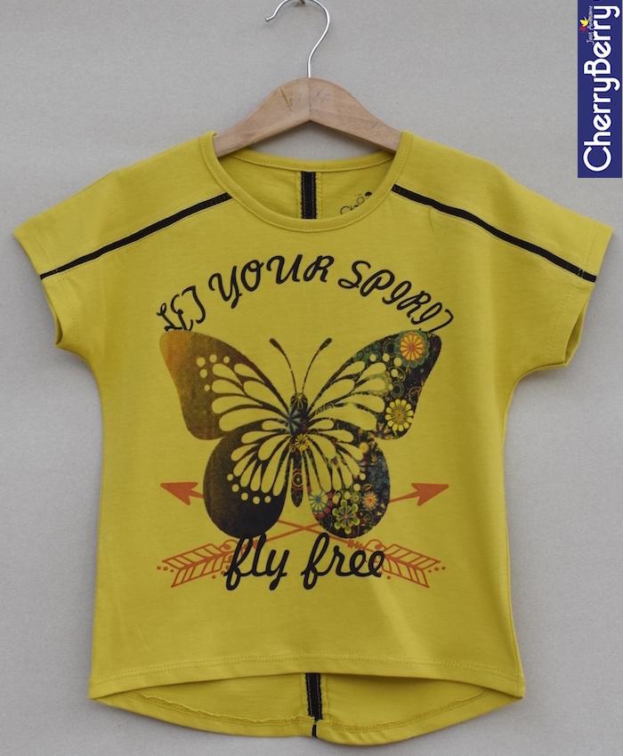 Girls Printed T-shirt (S18G76)
