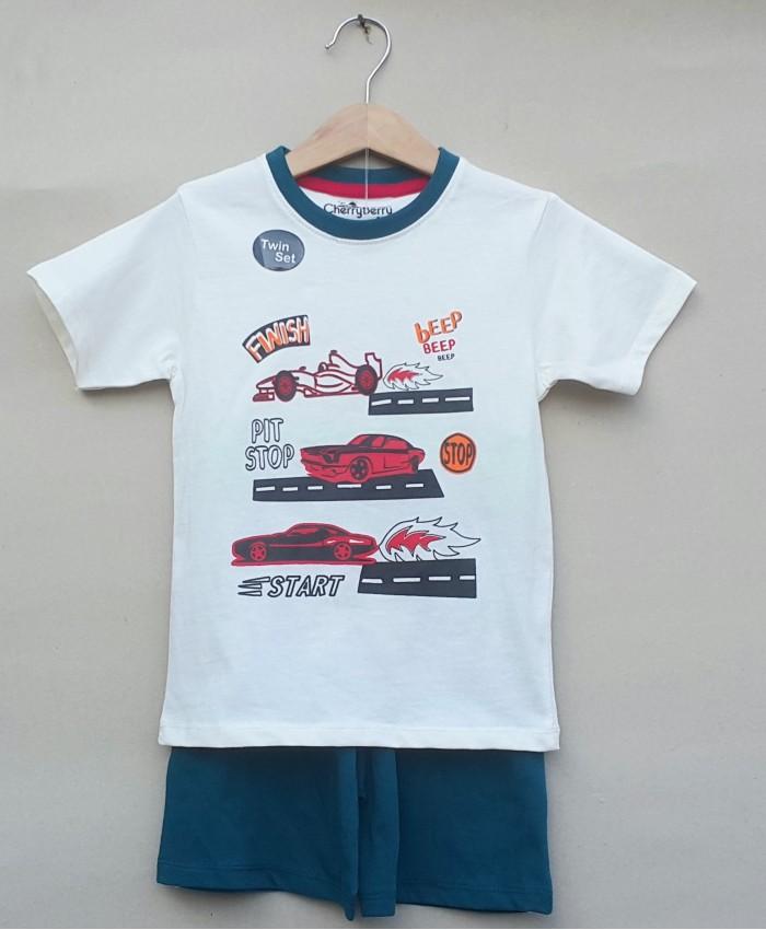 boys printed T-shirt-short set