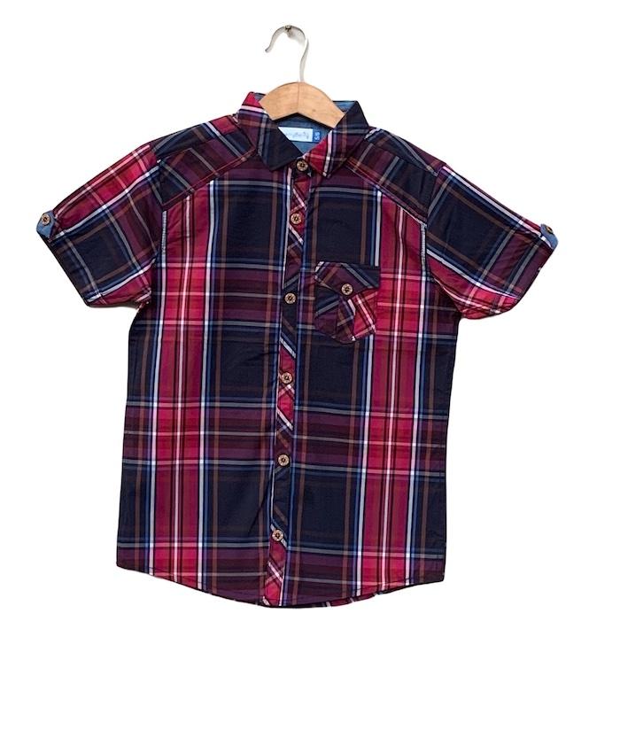 Boys Cotton check Shirt