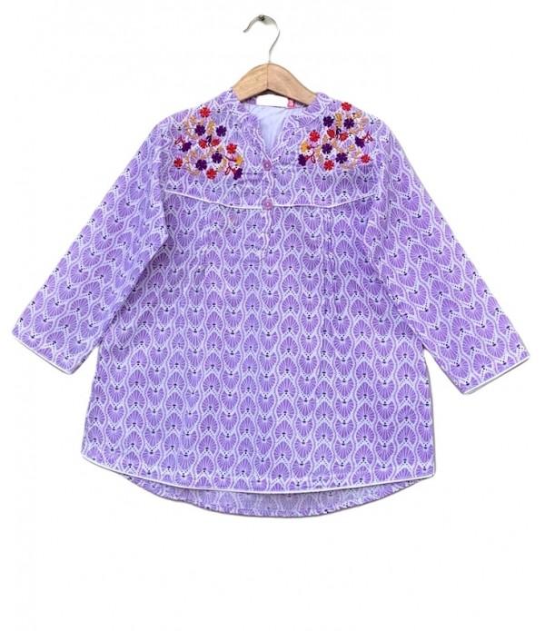 Girls embroider dress