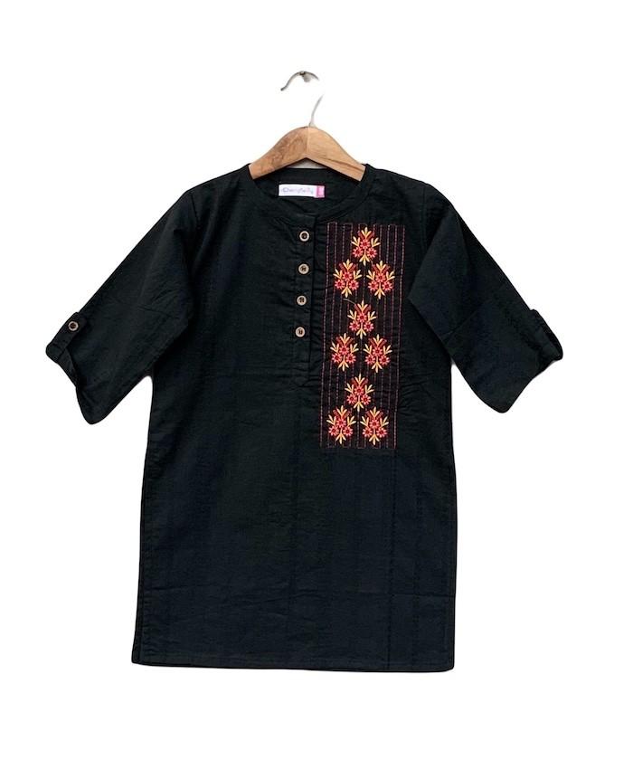 Girls cotton Embroider dress