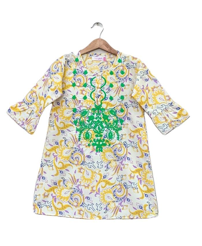 Girls cotton Embroider Kurti