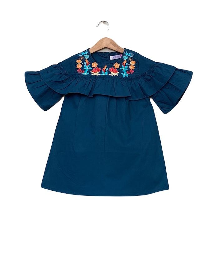 Baby girls cotton Embroider dress