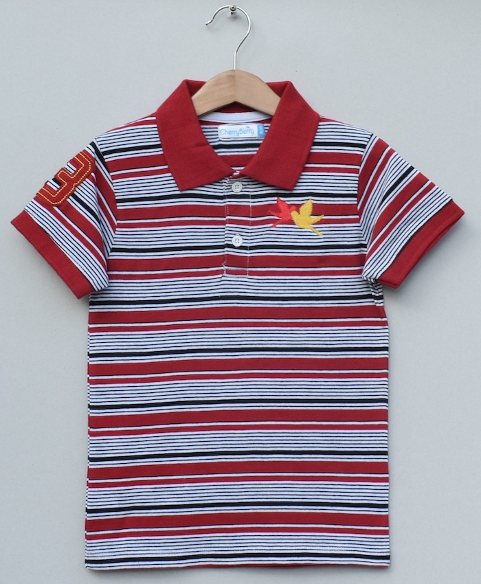 Boys strips Polo shirt (S19B49)