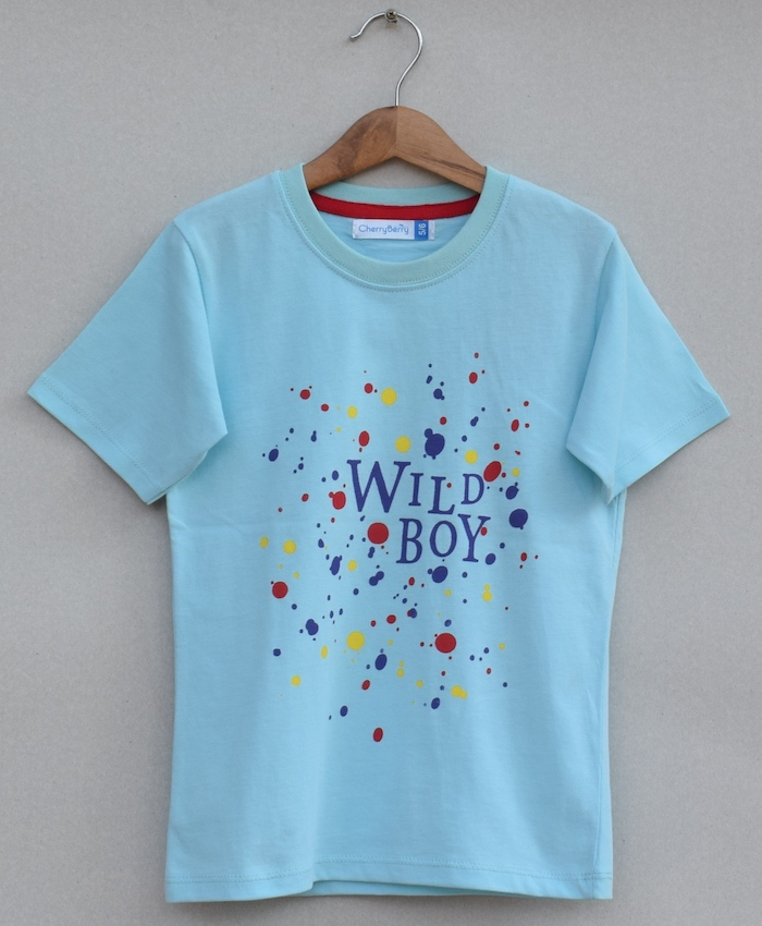 boys printed T-shirt (S19B85)