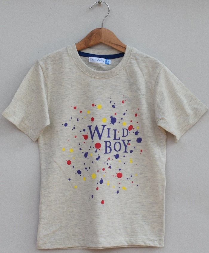 boys printed T-shirt (S19B86)