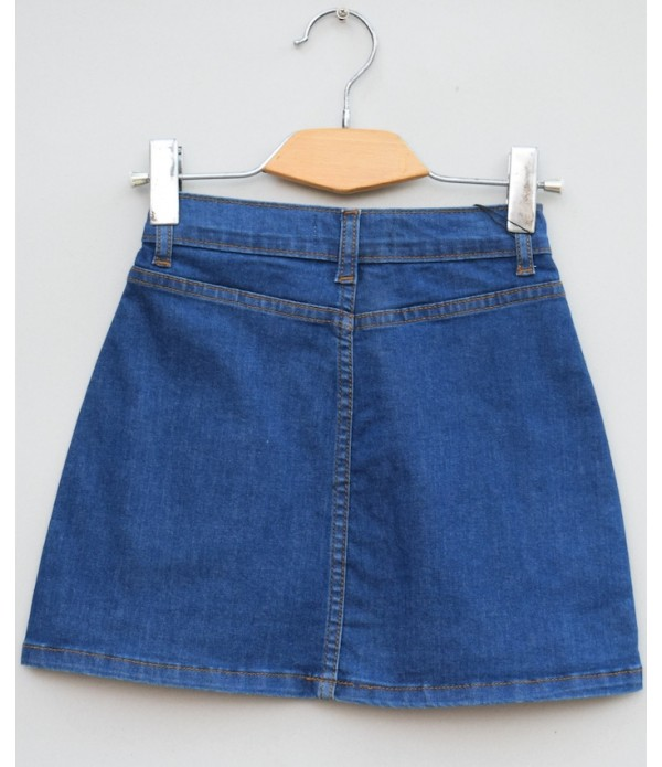 Girls stretch Denim skirt (S19D13)