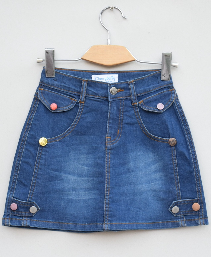 Girls stretch Denim skirt (S19D13)