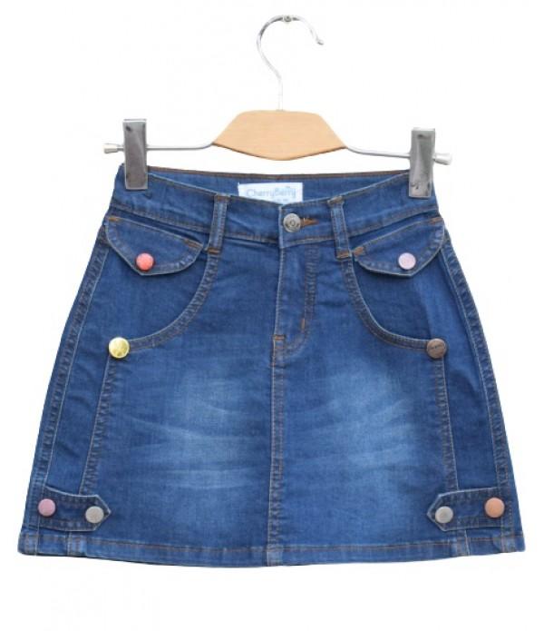 Baby Girls stretch Denim skirt