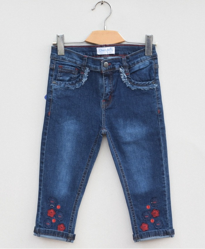 Girls stretch Denim Capri (S19D14)