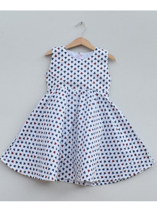 Girls Printed cotton Frock (S19F02)