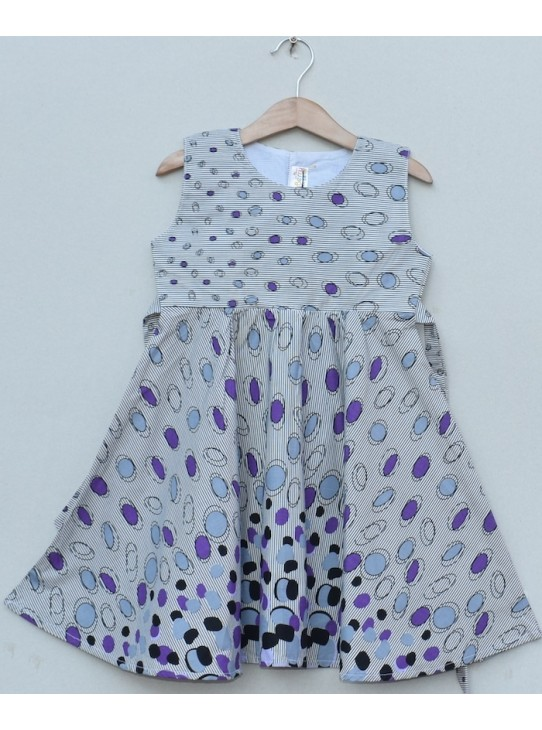 Girls Printed cotton Frock (S19F12)