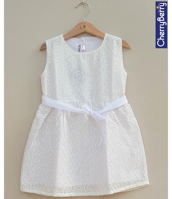 Girls Emb cotton Frock (S19F13)