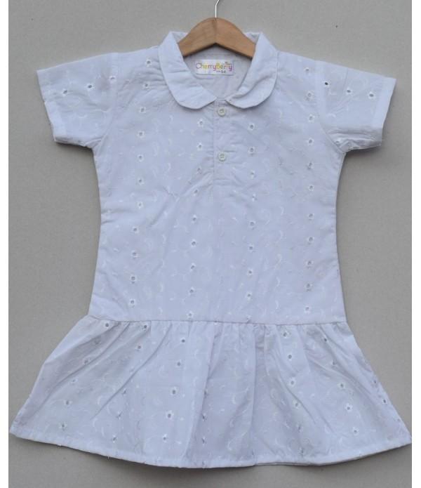 Girls cotton dress (S19F14)