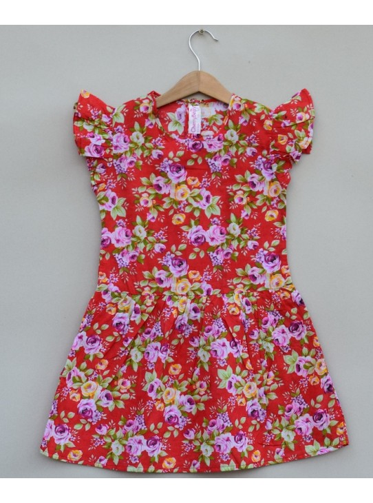 Girls Printed cotton Frock (S19F24)