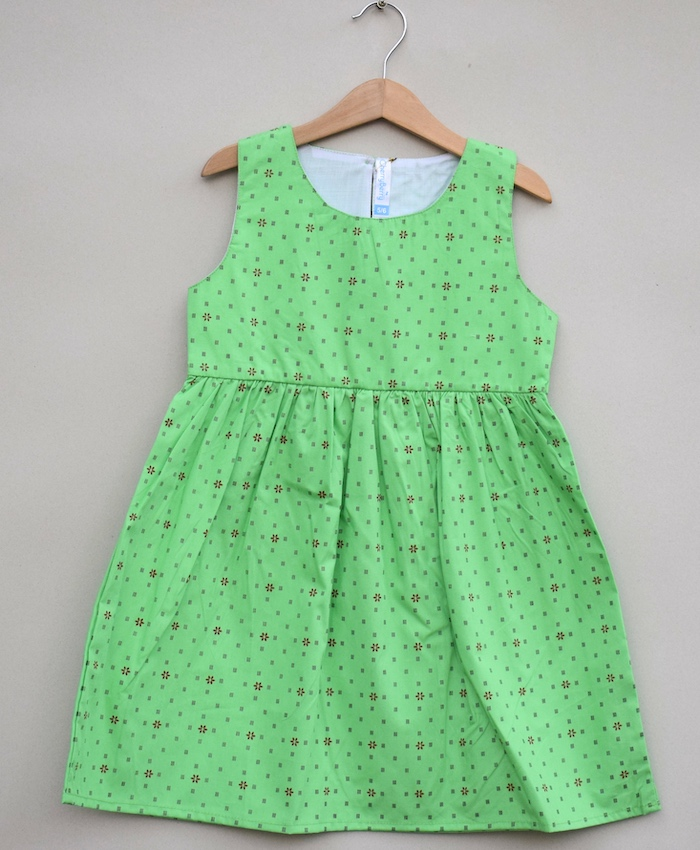 Girls dot printing cotton Frock