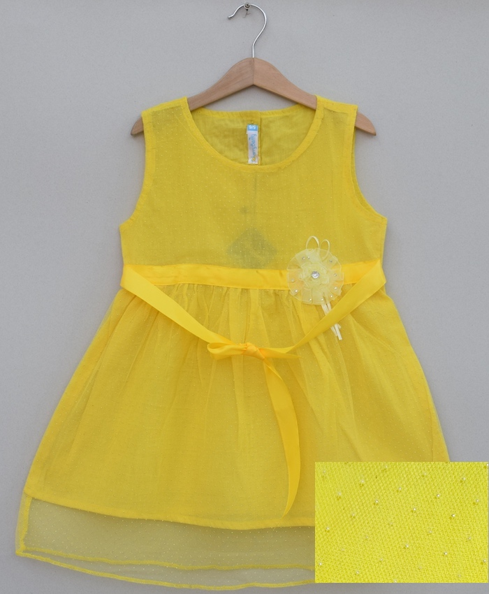 Girls Net Frock (S19F33)