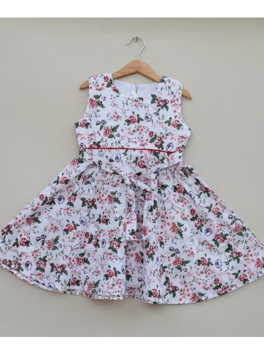 Girls Printed cotton Frock (S19F36)
