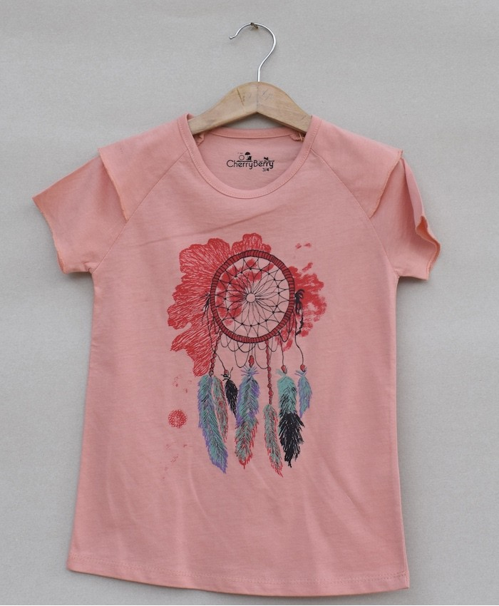 Girls printed T-shirt (S19G09)