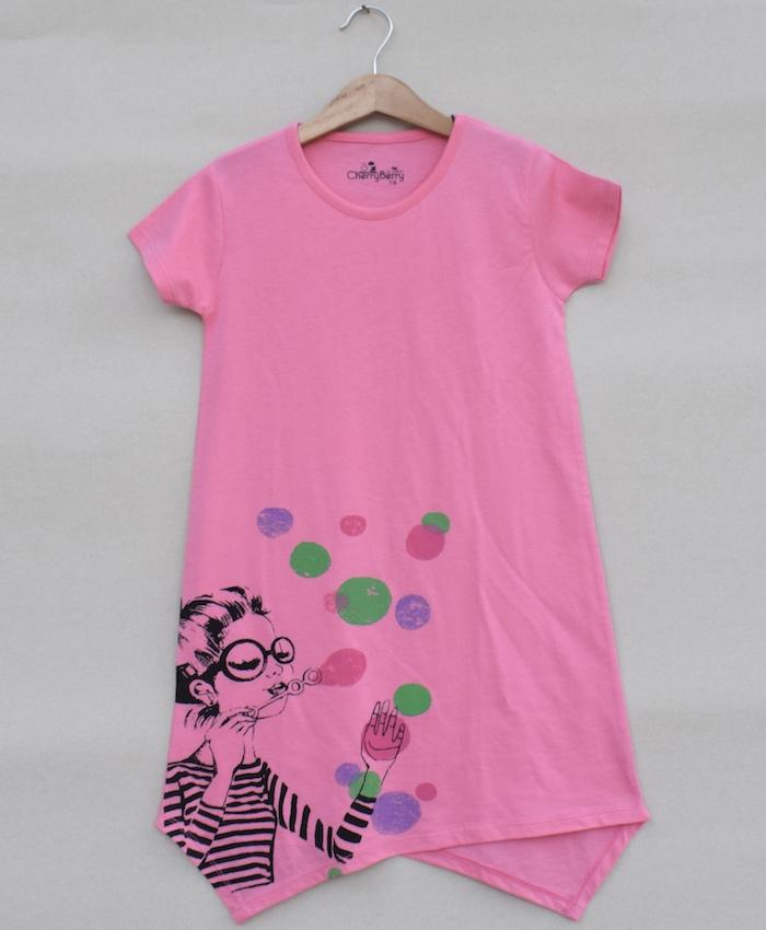 Girls printed T-shirt (S19G18)
