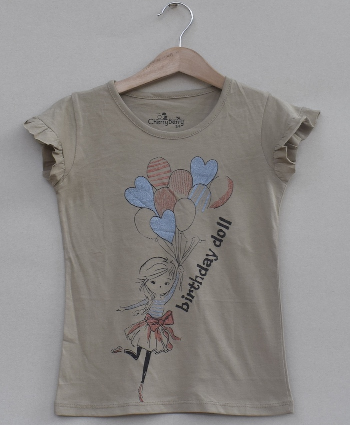 Girls printed T-shirt (S19G23)
