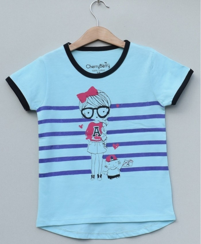 Girls Printed T-shirt (S19G50)