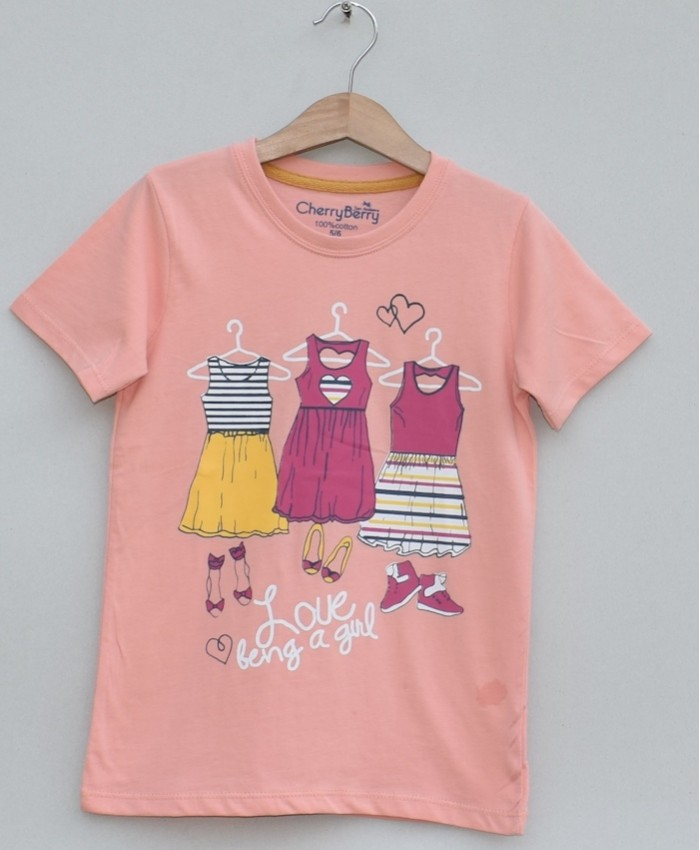 Girls Printed T-shirt (S19G51)