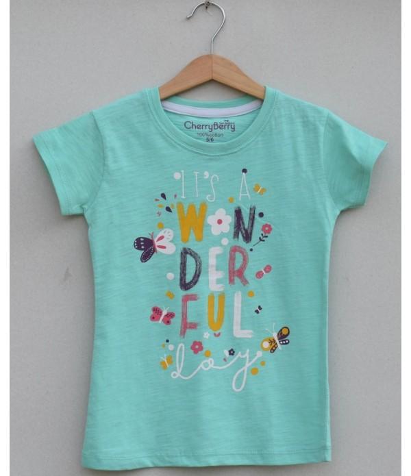 Girls Printed T-shirt (S19G56)