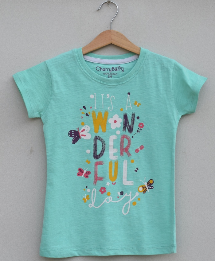 Girls Printed T-shirt (S19G56)