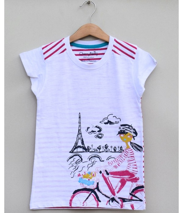 Girls Printed T-shirt (S19G70)