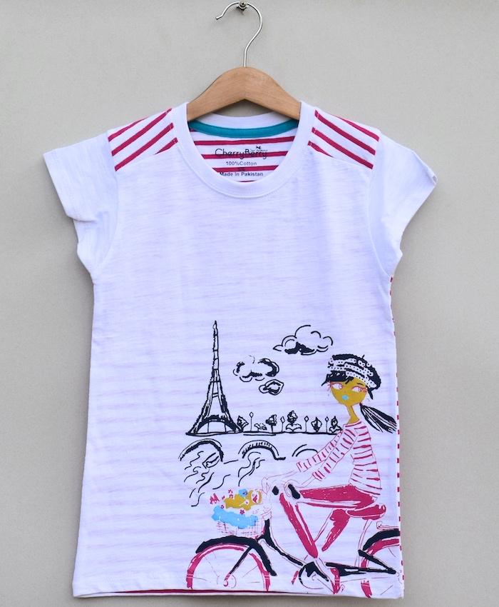 Girls Printed T-shirt (S19G70)