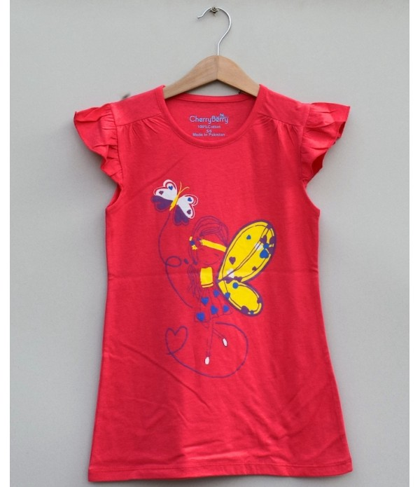 Girls Printed T-shirt (S19G71)