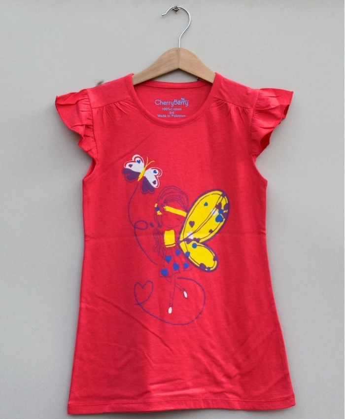 GIRLS PRINTED T SHIRT (S19G71)