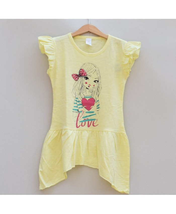 Girls Printed T-shirt (S19G78)