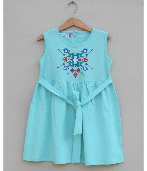 Girls knitted Frock (S19G85)