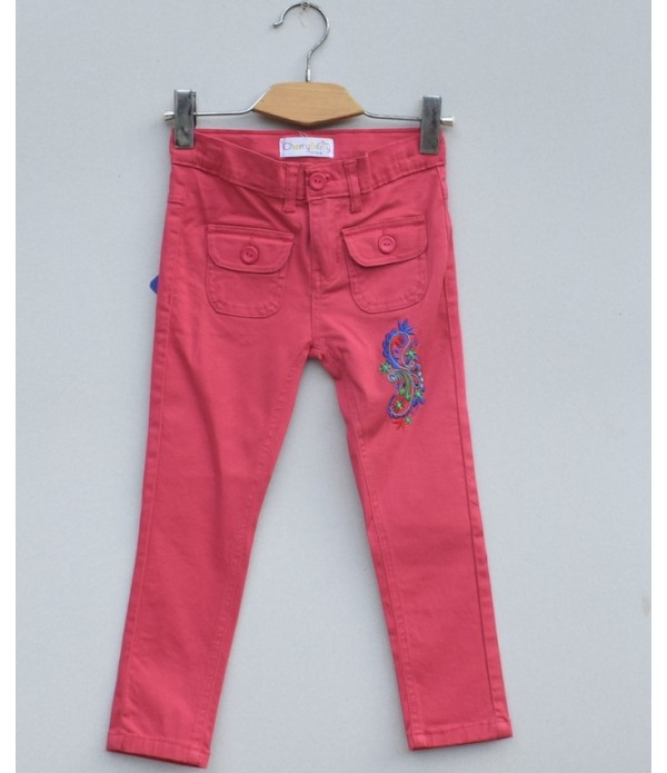 Girls Emb Trouser (S1(T01)