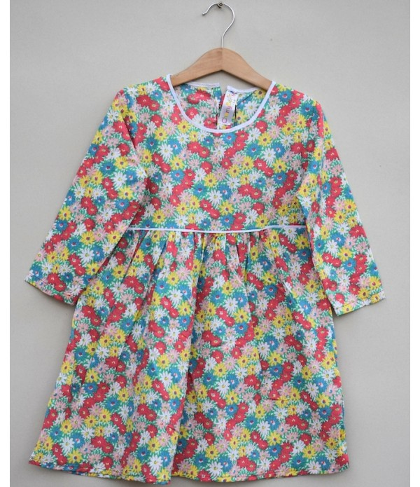 Girls Printed cotton Top (S19F28)