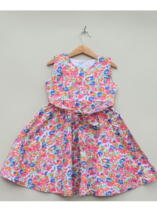 Girls Printed cotton Frock (S19F38)