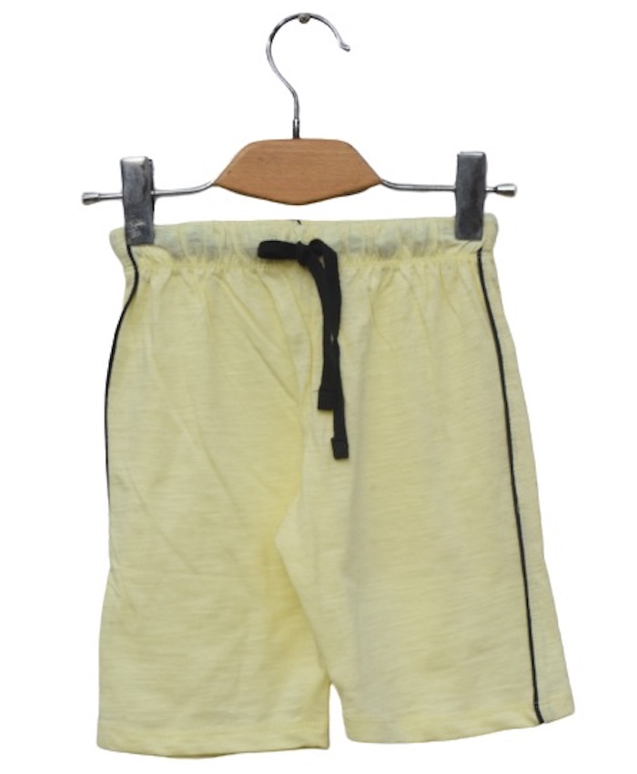 boys yellow cotton short