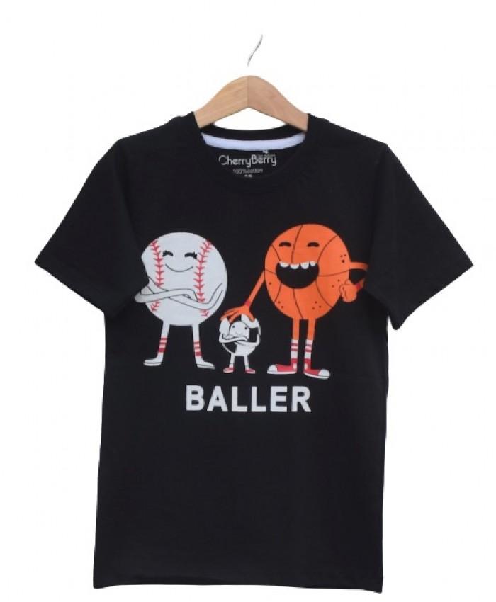 Boys Baller print T Shirt