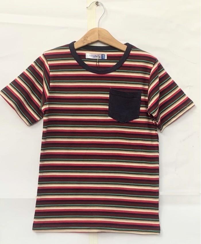 Multi colour strip T-shirt
